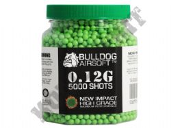 5000 x 6mm x 12g Green Polished Airsoft BB Gun Pellets in Tub